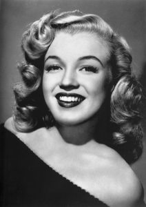 Marilyn Monroe black and white headshot